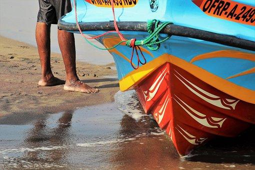 In The Water, Legs, Feet, The Fisherman, Beach