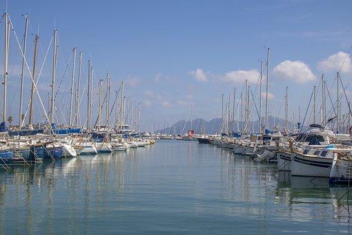 Mallorca, Port De Pollença, Port, Pier, Waters, Marina