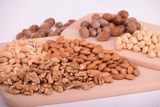 Nuts, Almonds, Seeds, Food, Batch, Nutrition, Diet