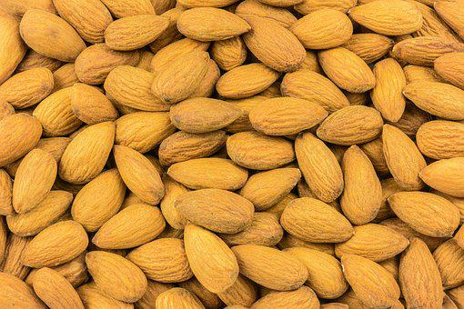 Almonds, Nuts, Wallpaper, The Background, Full Frame