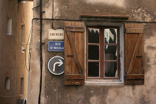 House, Wood, Architecture, Old, Street Sign, Window