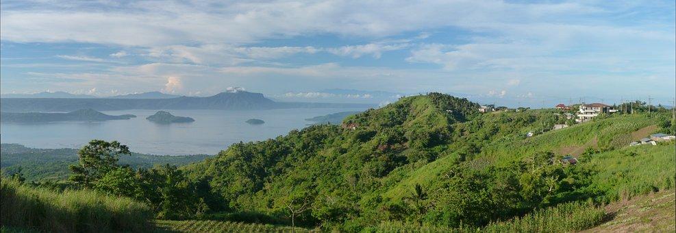 Nature, Panoramic, Landscape, Sky, Tree, Lake, Island