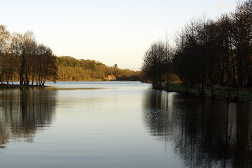 Body Of Water, Lake, Pond, Reflection, Landscape, Water