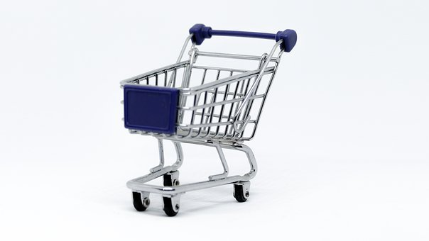 Cart, Tram, Isolated, Shopping, Supermarket