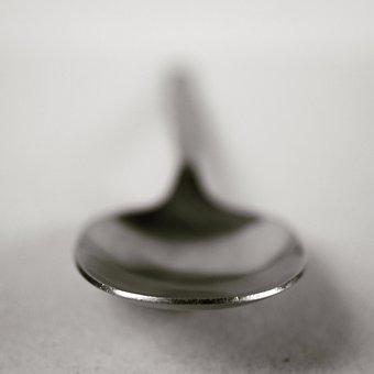 Pearl, Drop, Metal, Shadow, White, Black, Ice, Spoons