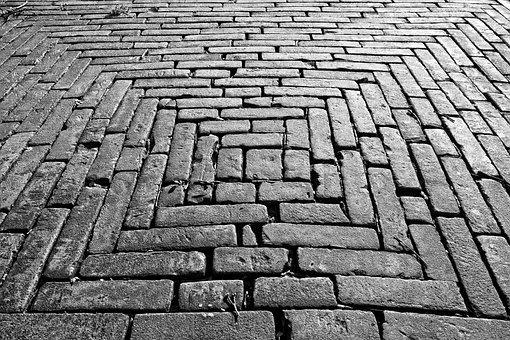 Brick, Paving, Sidewalk, Surface, Bricklaying, Pattern