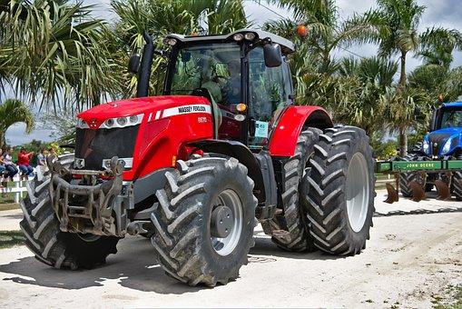 Tractor, Big, Heavy, Vehicle, Equipment, Wheel