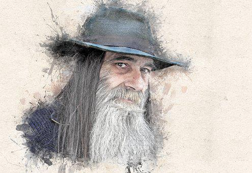 Human, Man, Face, View, Beard, Hat, Portrait, Male