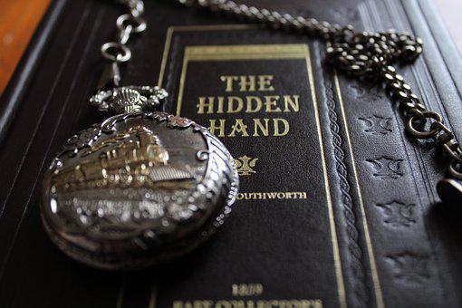 Pocket Watch, Book, Wealth, Old, Horizontal, Antique