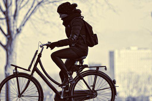 Cyclist, Bicycle, Woman, Person, People, Cycling