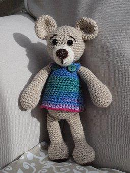 Amigurumi, Teddy Bear, Bears, Toys, Teddy, Häkeltier