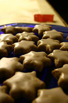Zimtstern, Cinnamon Stars, Cookies, Bake, Sweet, Eat