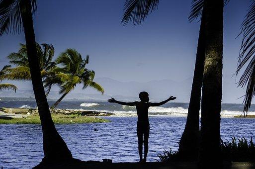 Body Of Water, Beach, Ease, Summer, Sun, Haiti, Morning