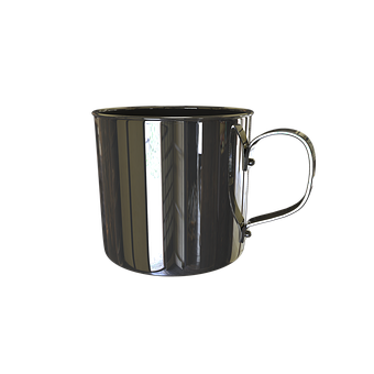 Mug, Stainless Steel, Metal, Cup
