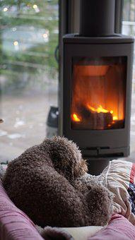 Heat, Flame, Hot, Fireplace, Dog