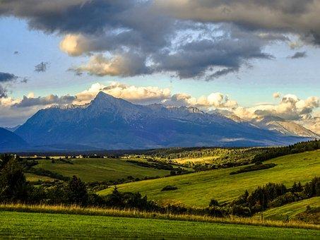 Slovakia, Liptov, Mountains, Kriváň, Meadow, Field