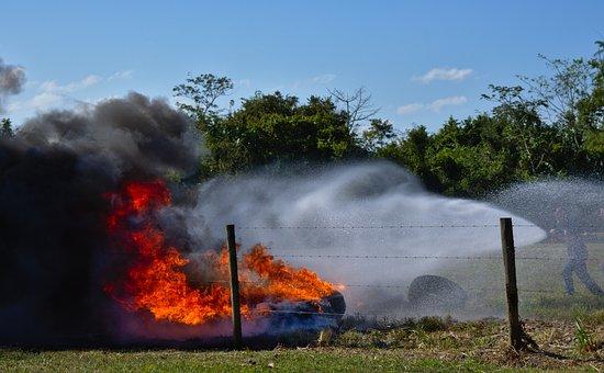 Fire, Smoke, Emergency, Nature, Outdoors, Landscape