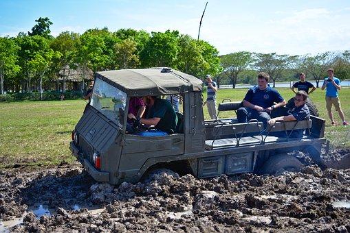 Mud, Stuck, People, Off Road, Adventure, Fun, Dirt