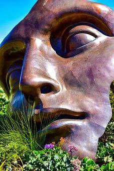 Face, Art, Nature, Sculpture, Hidden Valley Wine Estate
