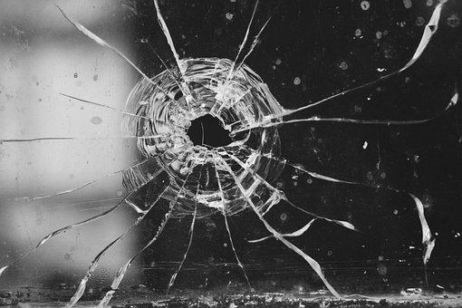Glass, Shot, Bullet, Hole, Torn