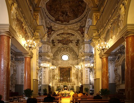 Inside, Ceiling, Architecture, Baroque, Monument, Italy