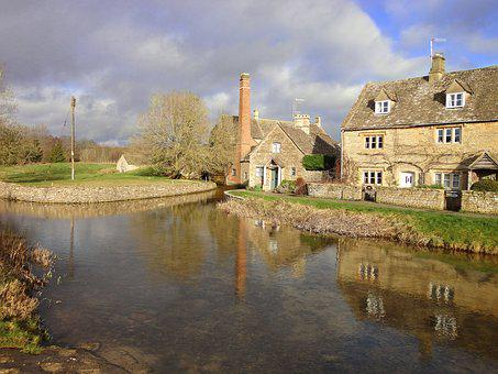 Cotswold, Gloucester, Lower Slaughter, Countryside