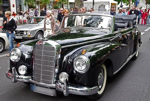 Auto, Mercedes, Oldtimer, Classic, Cabriolet, Vehicle