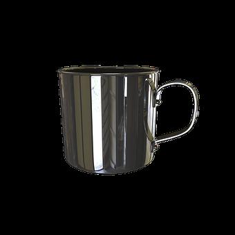 Mug, Stainless Steel, Metal, Cup