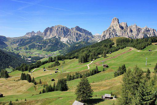 Mountain, Nature, Landscape, Travel, Valley, Dolomites