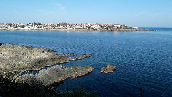 Sea, Sozopol, Bulgaria, Rocks, Bay, Nature, Beach