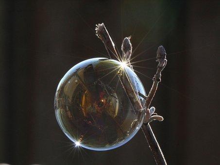 Soap Bubble, Light, Reflection, Shimmer