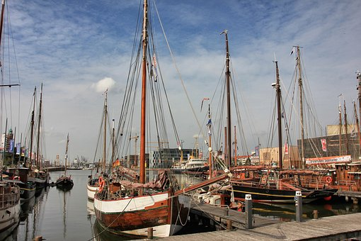 Port, Sea, Pier, Waters, Ship, Boot, Sailing Boat