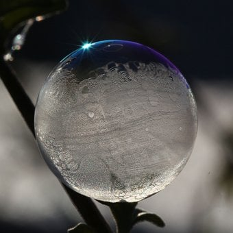 Soap Bubble, Light, Reflection, Shimmer, Weightless