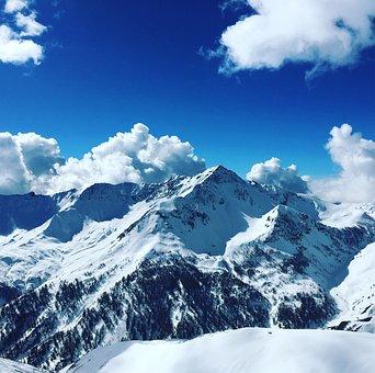Snow, Mountain, Top, Glacier, Winter, Snowy, Landscape