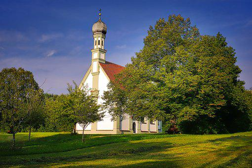 Tree, Sky, Architecture, Church, Chapel, Building