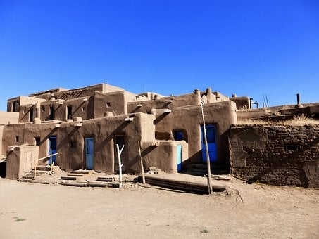Architecture, Usa, Pueblo, Indian, Travel, No Person