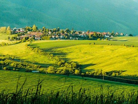 Fields, Slovakia, Liptov, Veterná Poruba, Meadows