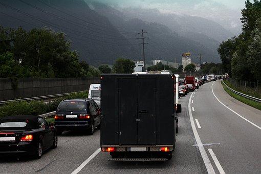 Road, Auto, Jam, Asphalt, Highway, Obstacle, Holiday