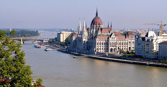 Architecture, Hungary, Danube, River, Body Of Water