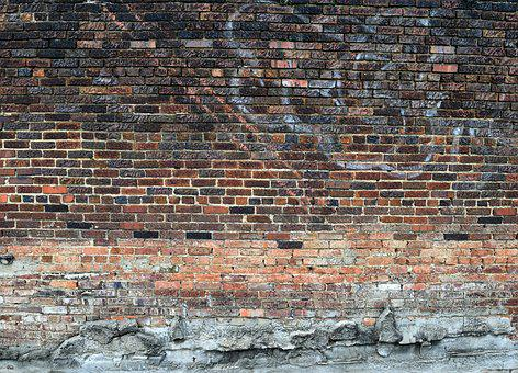 Brick Wall, Brick, Background, Backdrop, Grunge, Wall