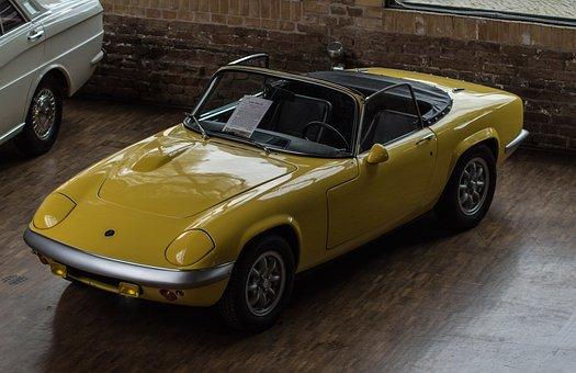 Auto, Lotus, Oldtimer, Classic, Cabriolet, Vehicle