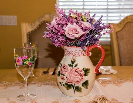 Vase, Flower, Table, Decoration, Bouquet, Celebration