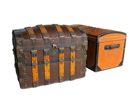 Chest, Box, Luggage, Go Away, Travel, Holiday, Isolated