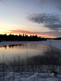 Landscape, Nature, Dawn, No Person, Tree, Sky, Snow