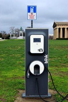 Hybrid Car, Sign, Charging, Electric, Vehicle, Hybrid