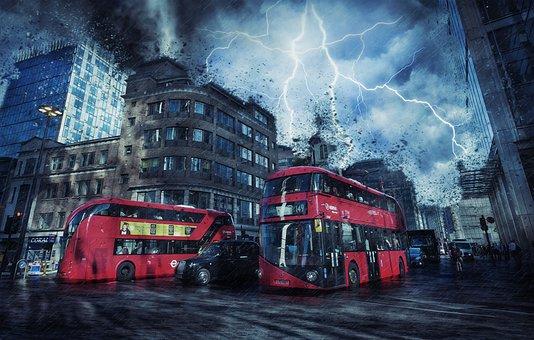 London, Storm, Weather, Destruction, England, Capital