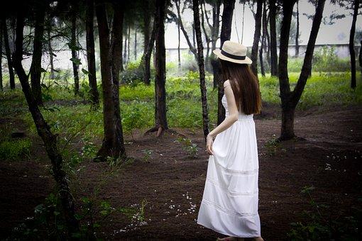 Nature, Outdoors, Tree, Woman, Wood, Girl, Beautiful