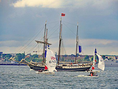 Kiel Week, Kieler Firth, Regattas, Tall Ship