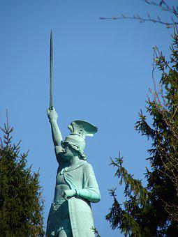 Sculpture, Statue, Sky, A, Travel, Art, Monument, Man
