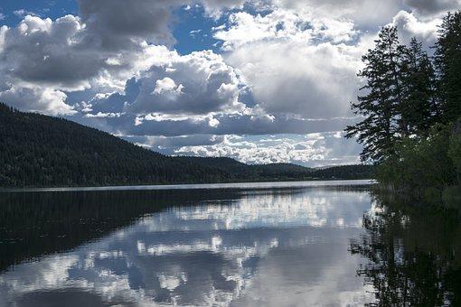 Lake, Landscape, Mountain, Panoramic, Nature